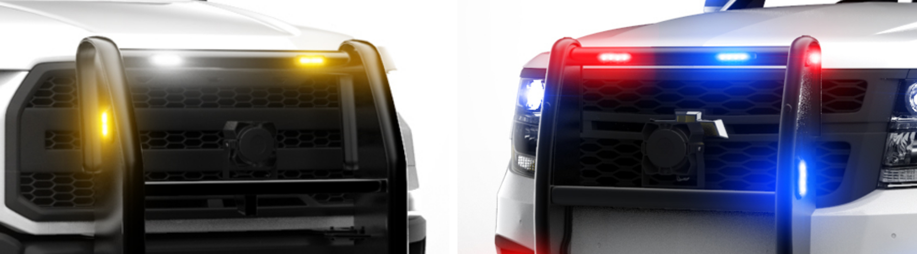 LED SURFACE MOUNT GRILLE warning lights POLICE LIGHTS